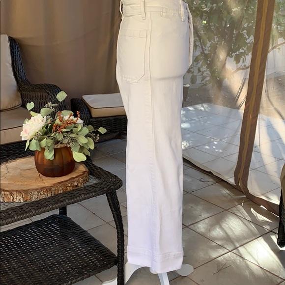 H&M Denim - White stretchy culotte jean.